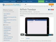 EdTech Tuesdays: Microsoft Office Mobile Video