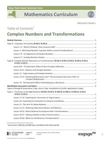 Complex Numbers and Transformations Unit