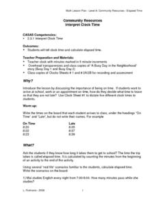 Interpret Clock Time Lesson Plan