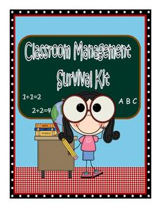 Classroom Management Survival Kit Printables & Template