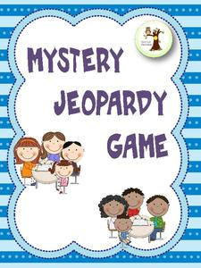 Mystery Jeopardy Game Learning Game