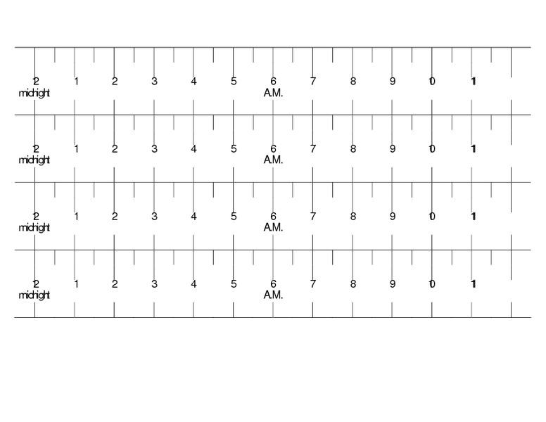Elapsed Time Ruler Sample 1 x 4 Rulers 2nd - 5th Grade Printables ...
