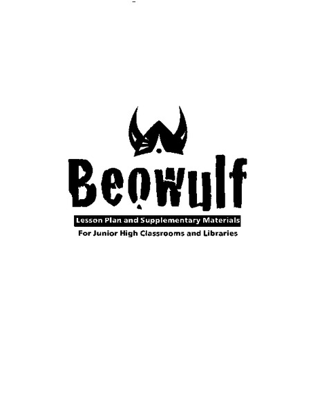 Beowulf: Lesson Plan and Supplementary Materials Lesson