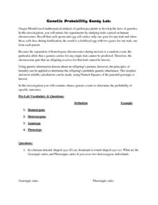 Genetic Probability Candy Lab Lab Resource for 6th - 10th ...