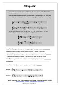 Transposition Handouts & Reference