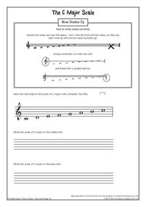 The C Major Scale Graphic Organizer