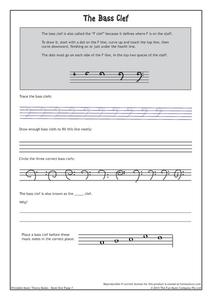 The Bass Clef Worksheet