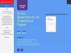 From Brainstorm to Published Paper Lesson Plan