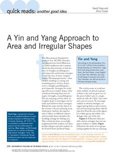 A Yin and Yang Approach to Area and Irregular Shapes Activities & Project
