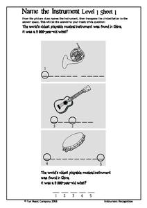 Name the Instrument Worksheet