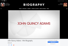 John Quincy Adams- Mini Biography Video