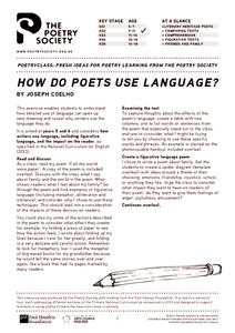 How do Poets Use Language? Lesson Plan