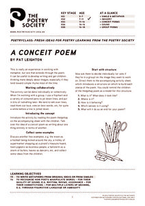 A Conceit Poem Lesson Plan