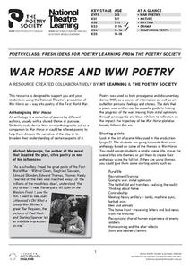 War Horse and WWI Poetry Lesson Plan