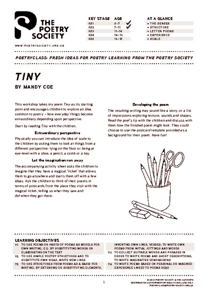 Tiny by Mandy Coe Lesson Plan