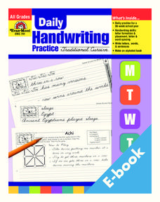 Daily Handwriting Practice: Traditional Cursive Worksheet