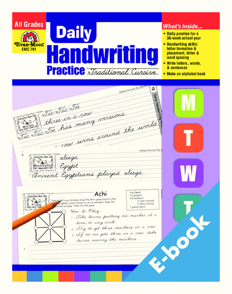 daily handwriting practice traditional cursive worksheet for 2nd 4th grade lesson planet. Black Bedroom Furniture Sets. Home Design Ideas