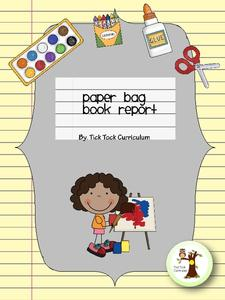 Mystery Paper Bag Book Report Activities & Project