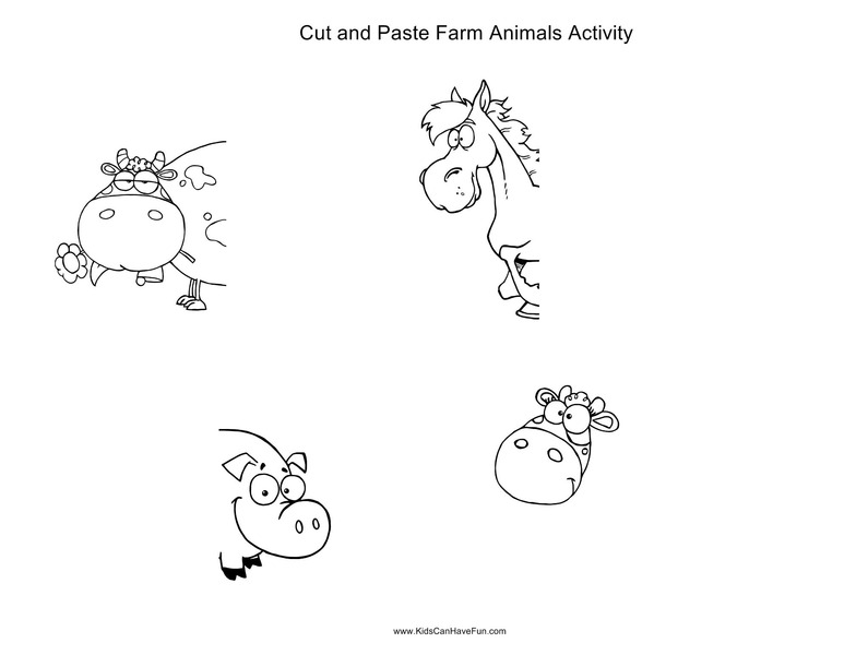 Cut and Paste Farm Animals Activity Activities & Project