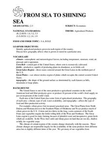 FROM SEA TO SHINING SEA Lesson Plan