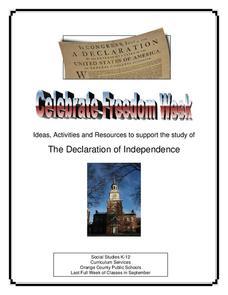 Celebrate Freedom Week: The Declaration of Independence Unit