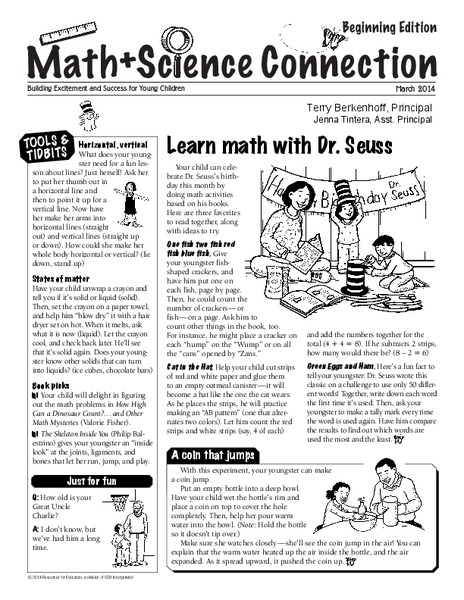 Math & Science Connection Activities & Project for Pre-K