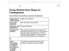 From Restriction Maps to Cladograms Lesson Plan for 9th - 12th Grade ...