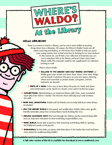 photograph about Where's Waldo Printable identify Wheres Waldo?: At the Library Printables Template for 3rd