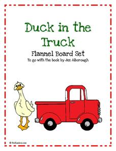 Duck in the Truck Flannel Board Set Printables & Template