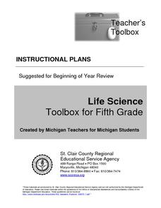 Life Science Toolbox for Fifth Grade Unit