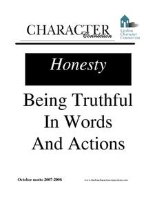 Being Truthful in Words and Actions Lesson Plan for 3rd