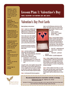 Valentine's Day Post Cards Lesson Plan
