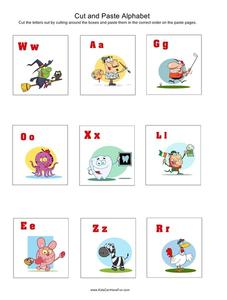 Cut and Paste Alphabet Worksheet