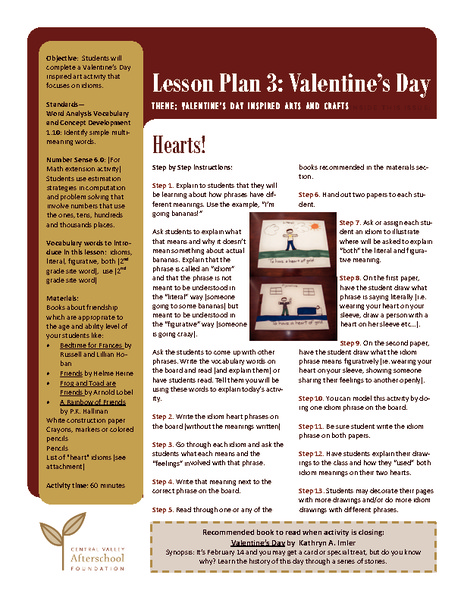 Hearts! Lesson Plan