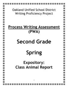 Class Animal Report Worksheet
