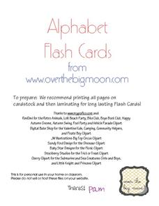 Aa-Zz Flash Cards and Puzzles Printables & Template
