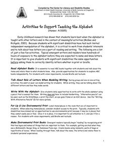 Activities to Support Teaching the Alphabet Activities & Project