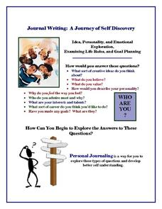 A Journey of Self Discovery Handouts & Reference