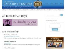 40 Ideas for 40 Days Activities & Project
