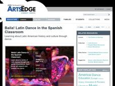 Baila! Latin Dance in the Spanish Classroom Lesson Plan