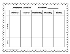 Conference Schedule Printables & Template