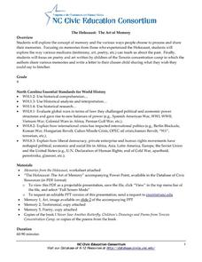 The Holocaust: The Art of Memory Handouts & Reference