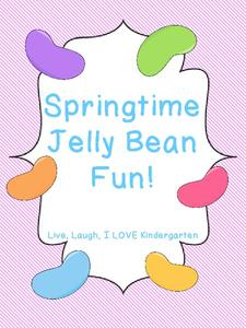 Springtime Jelly Bean Fun! Worksheet