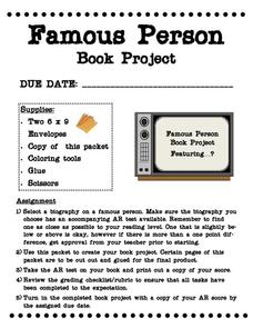Famous Person Book Project Activities & Project