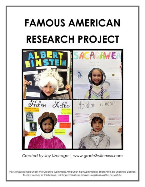Famous American Research Project Activities & Project