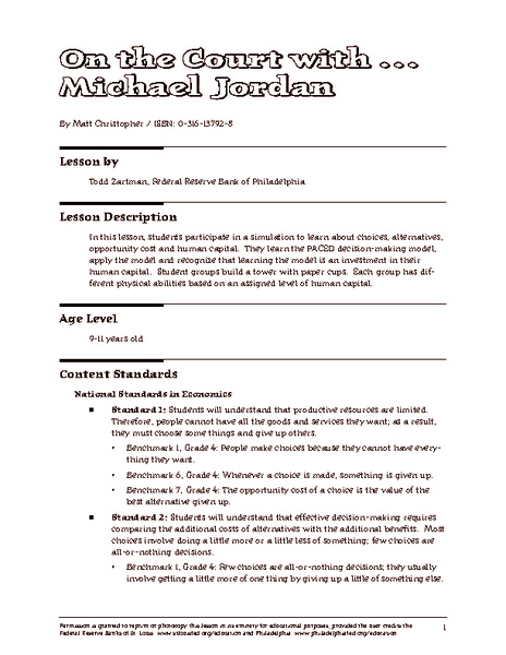 Worksheets Choices And Consequences Worksheet choices and consequences lesson plans worksheets on the court with michael jordan plan