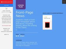 Front Page News Lesson Plan