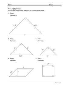 Geometry Composite Figures Lesson Plans & Worksheets