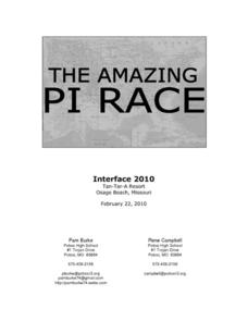 The Amazing Pi Race Activities & Project