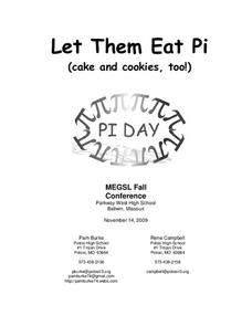 Let Them Eat Pi Activities & Project